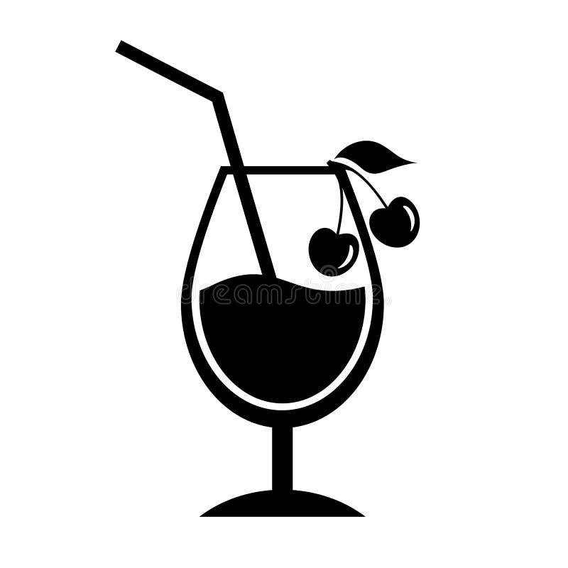 Icona del cocktail della ciliegia illustrazione di stock