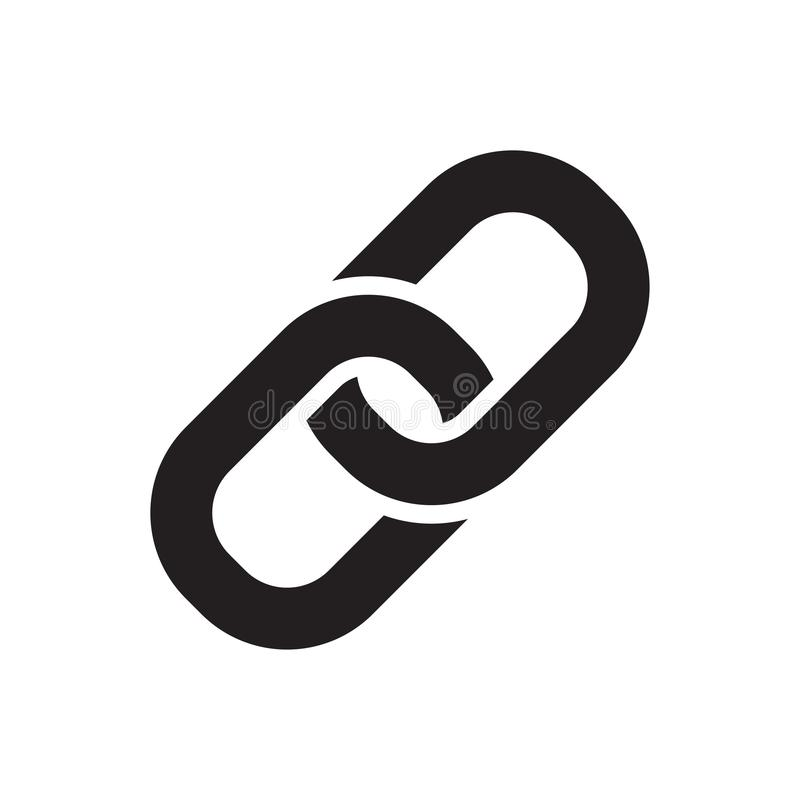 Icona del collegamento a catena illustrazione vettoriale
