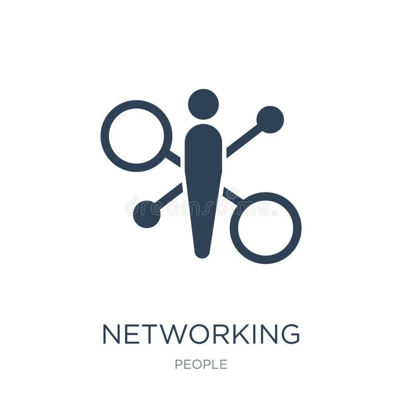 icona del collegamento della rete nello stile d'avanguardia di progettazione icona del collegamento della rete isolata su fondo b illustrazione vettoriale