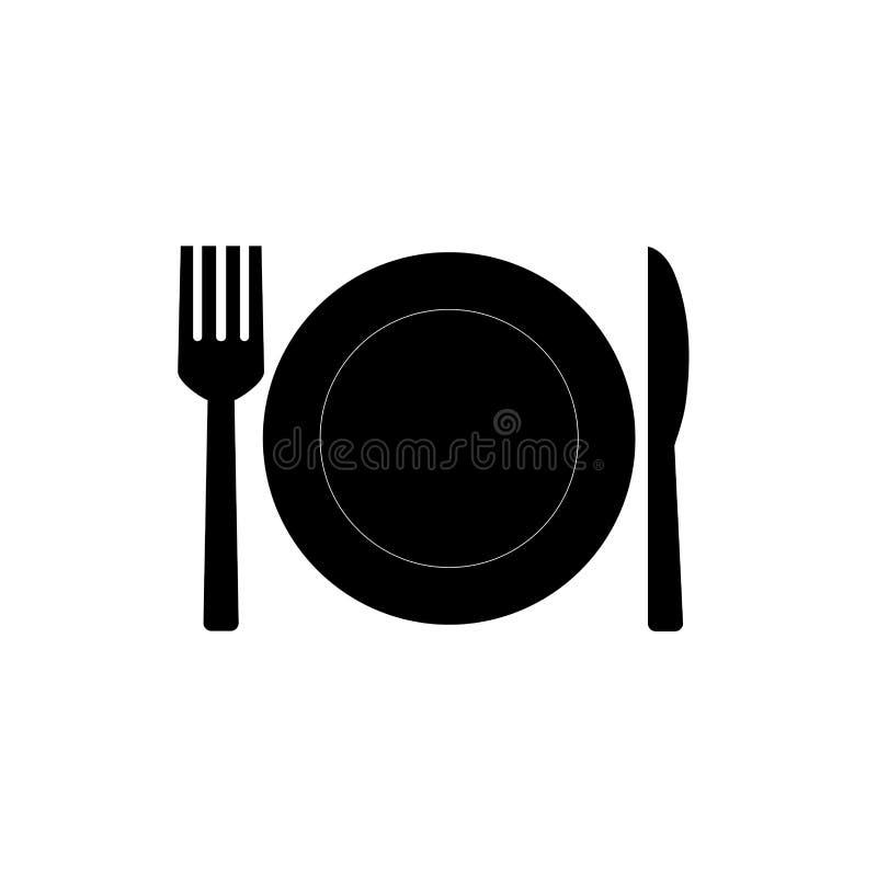 icona del coltello e della forcella illustrazione di stock