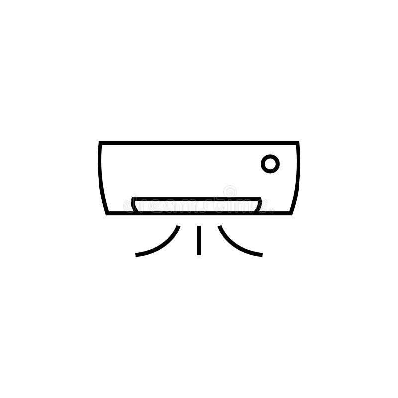 Icona del condizionamento d'aria Elemento per i apps mobili di web e di concetto Linea sottile icona per progettazione del sito W royalty illustrazione gratis