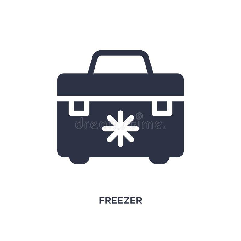 icona del congelatore su fondo bianco Illustrazione semplice dell'elemento dal concetto di campeggio illustrazione vettoriale
