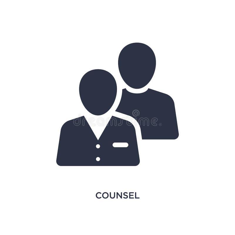 icona del consulente legale su fondo bianco Illustrazione semplice dell'elemento dal concetto della giustizia e di legge illustrazione vettoriale