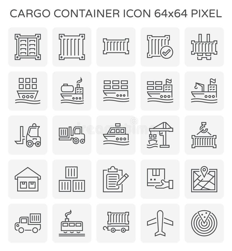 Icona del container illustrazione vettoriale