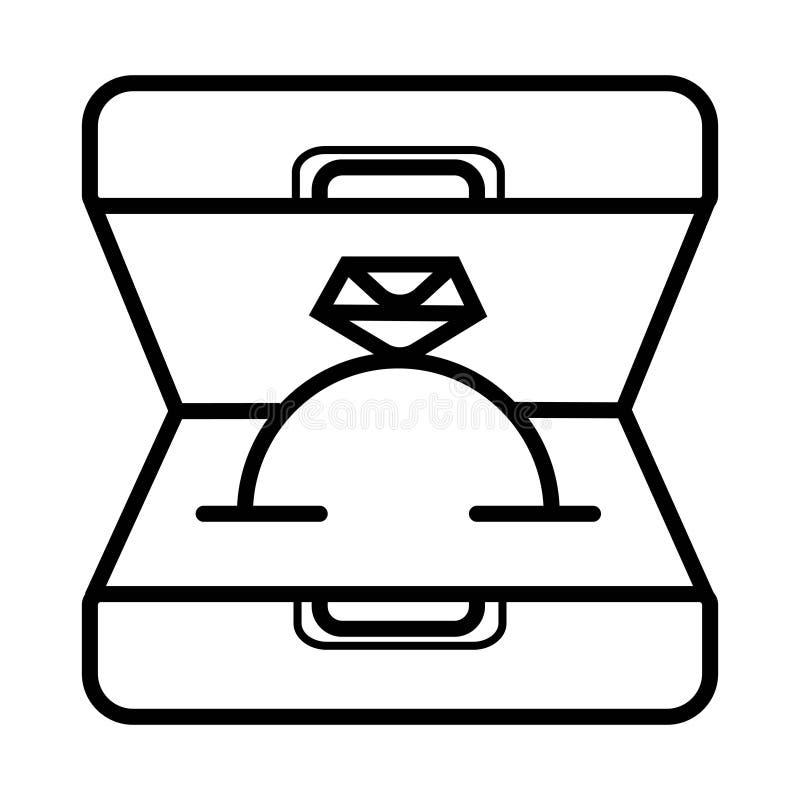 Icona del contenitore di anello royalty illustrazione gratis