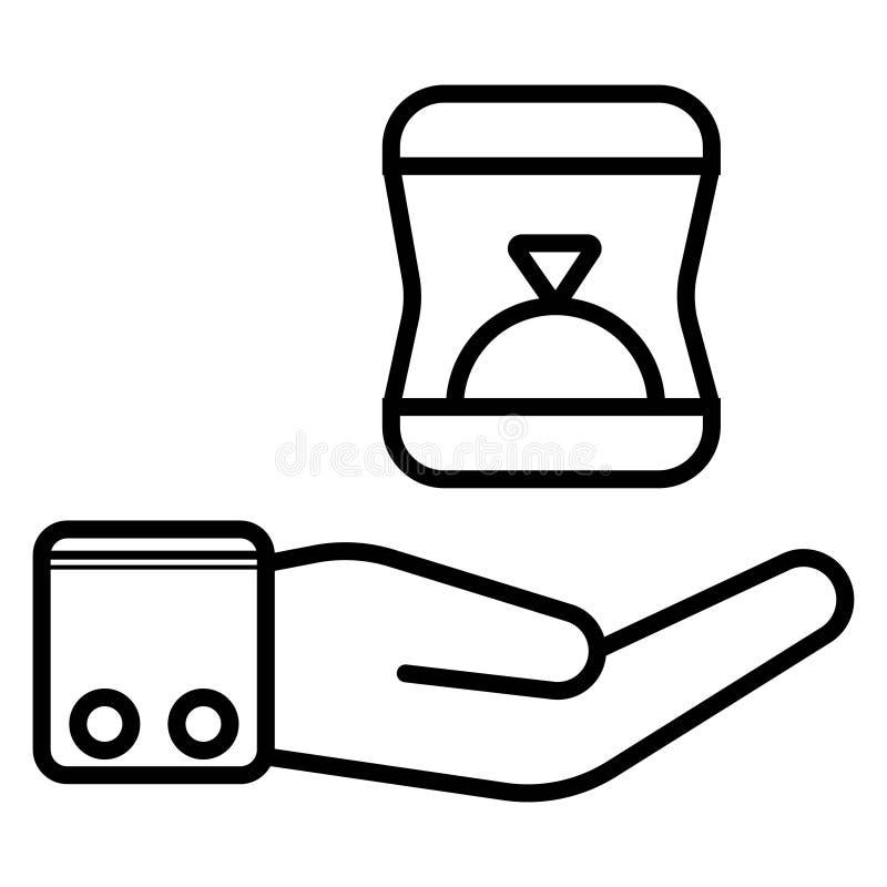 Icona del contenitore di anello illustrazione vettoriale