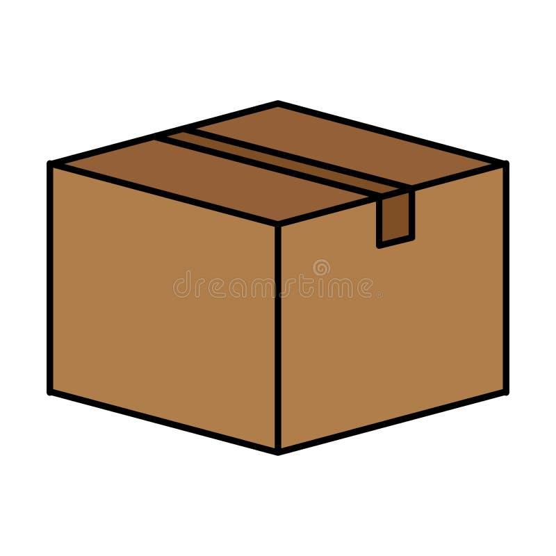 Icona del contenitore di cartone illustrazione di stock