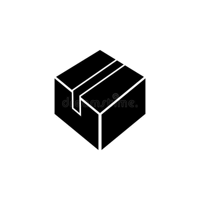 icona del contenitore di imballaggio Elemento dell'icona di web per i apps mobili di web e di concetto L'icona isolata del conten illustrazione di stock