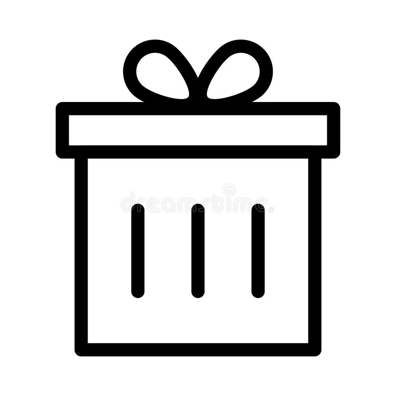 Icona del contenitore di regalo illustrazione di stock