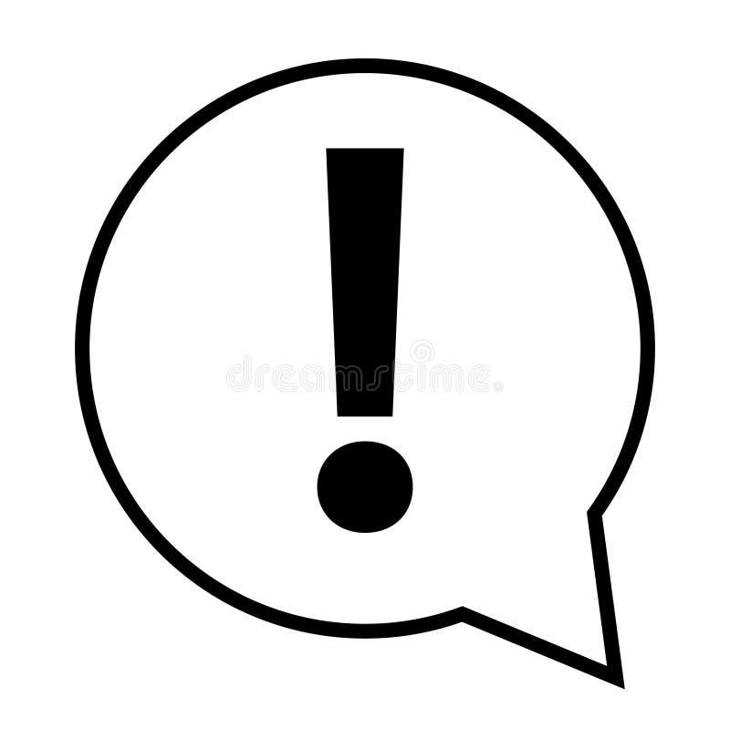 Icona del contrassegno di esclamazione Simbolo di pericolo di rischio Icona del segno di attenzione Vettore illustrazione vettoriale