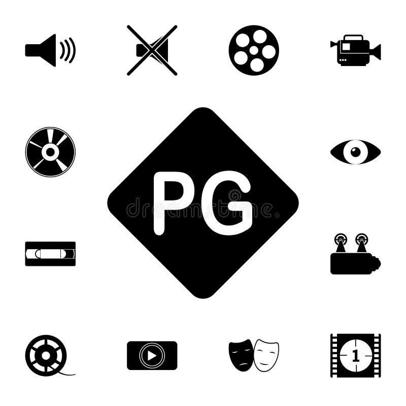 icona del controllo paterno Insieme dettagliato delle icone del cinema Icona premio di progettazione grafica di qualità Una delle illustrazione vettoriale