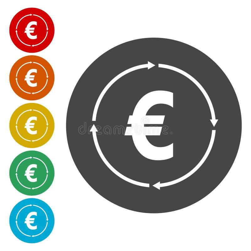 Icona del convertito dei soldi illustrazione vettoriale