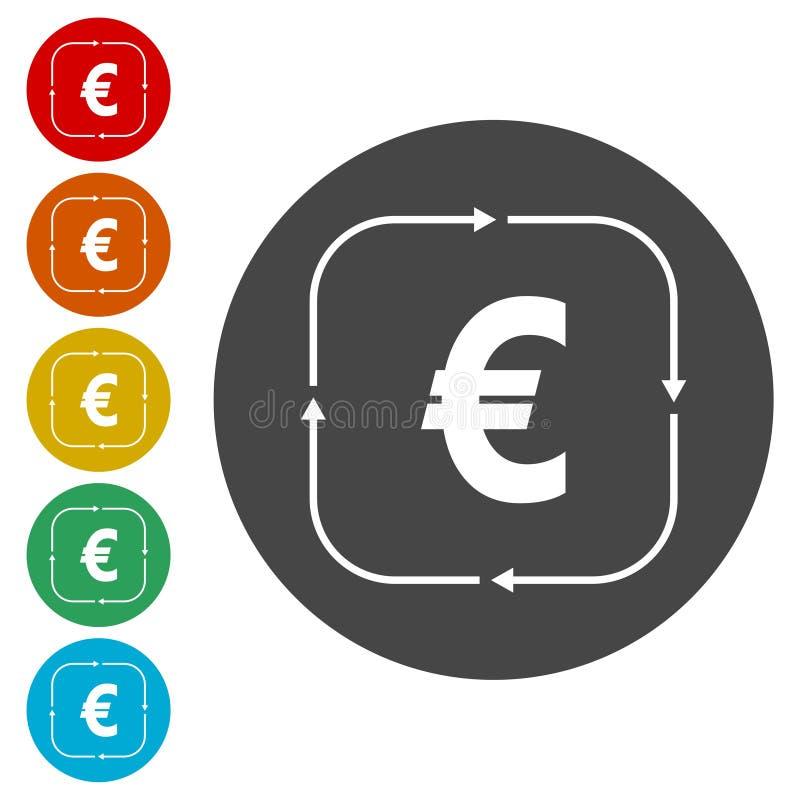 Icona del convertito dei soldi illustrazione di stock