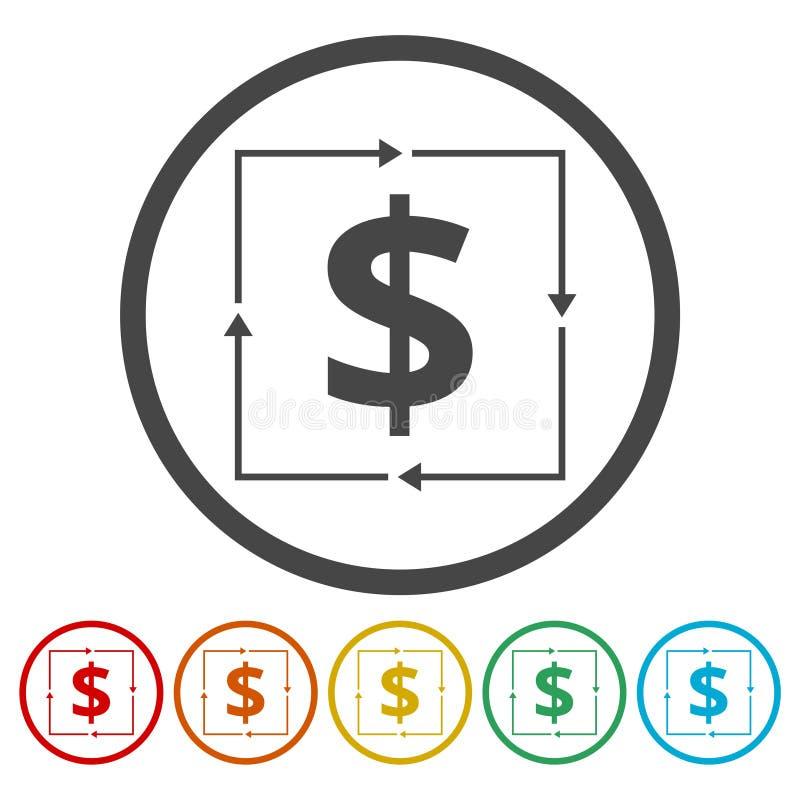 Icona del convertito dei soldi royalty illustrazione gratis