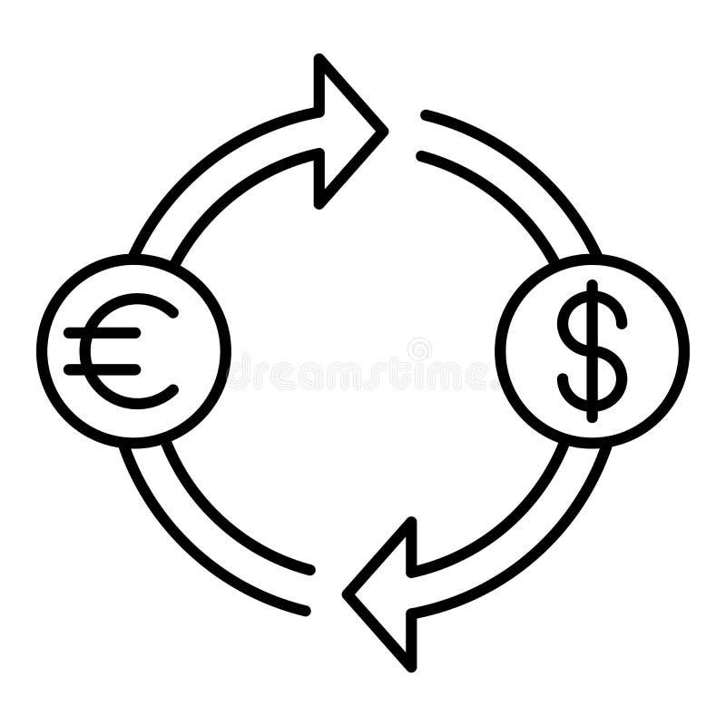 Icona del convertito dei soldi, stile del profilo royalty illustrazione gratis