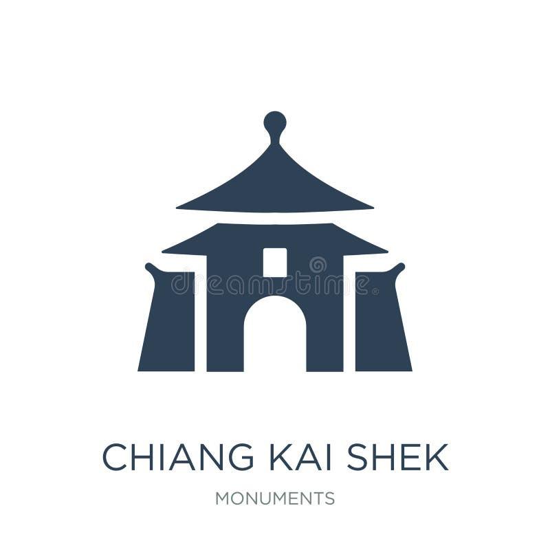 icona del corridoio commemorativo di Chiang Kai-shek nello stile d'avanguardia di progettazione icona del corridoio commemorativo illustrazione di stock