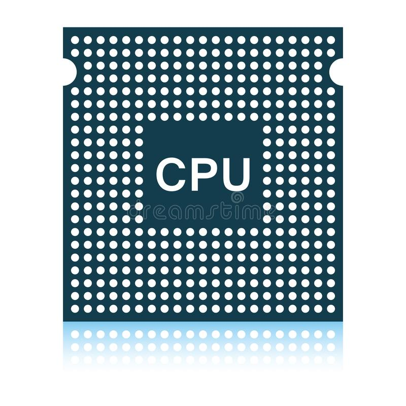 Icona del CPU illustrazione di stock
