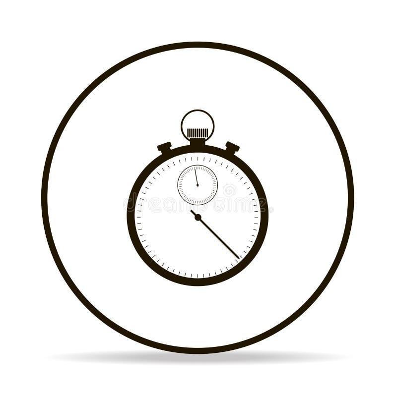 Icona del cronometro di vettore Icona nera della pipetta di vettore su backg bianco royalty illustrazione gratis