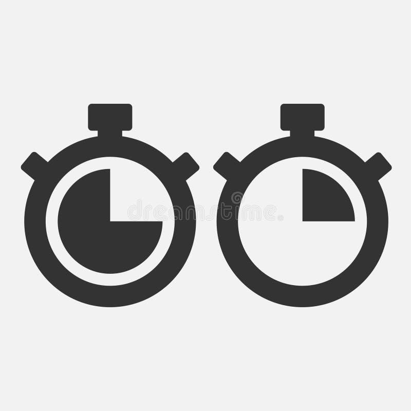 Icona del cronometro quindici secondi royalty illustrazione gratis