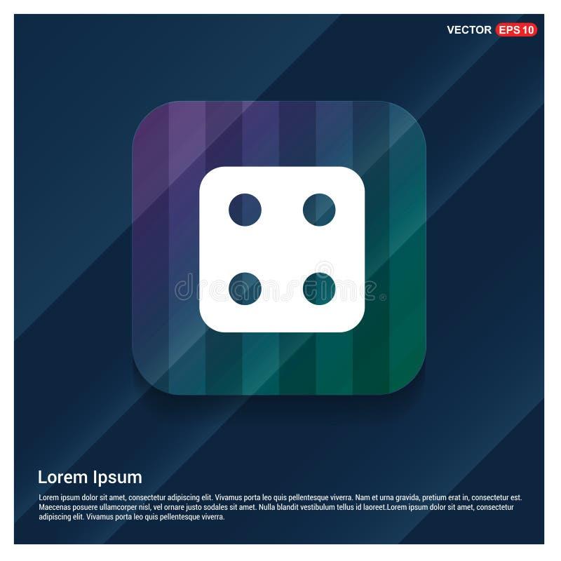 Icona del cubo dei dadi illustrazione vettoriale