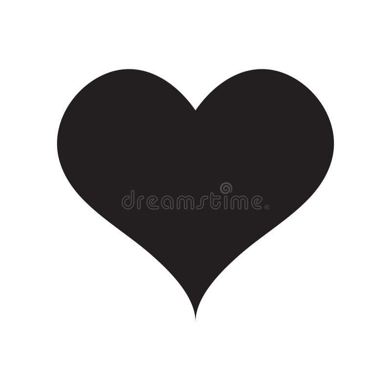 Icona del cuore, icona di amore illustrazione di stock