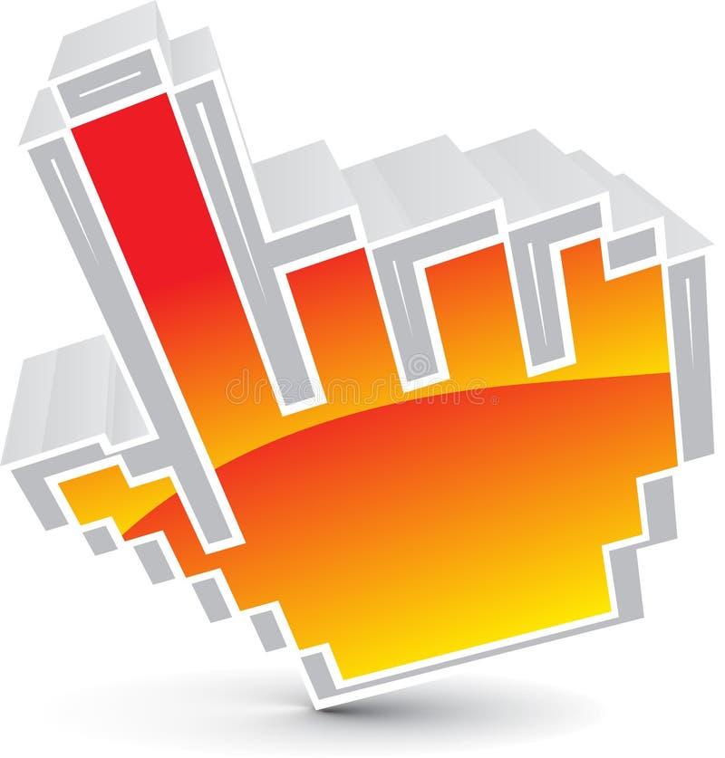 Icona del cursore del mouse illustrazione di stock