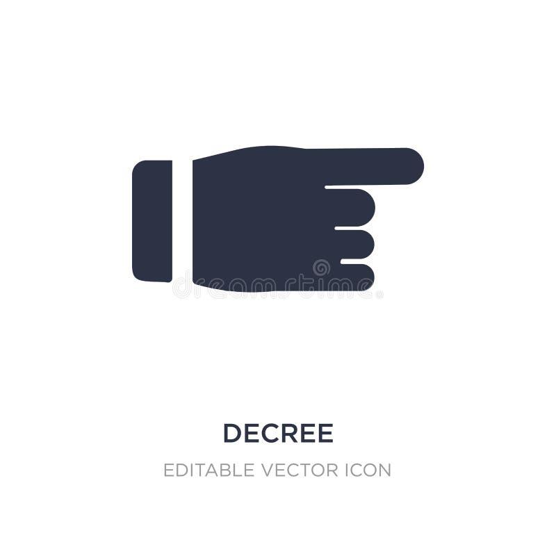 icona del decreto su fondo bianco Illustrazione semplice dell'elemento dal concetto di Guestures illustrazione di stock