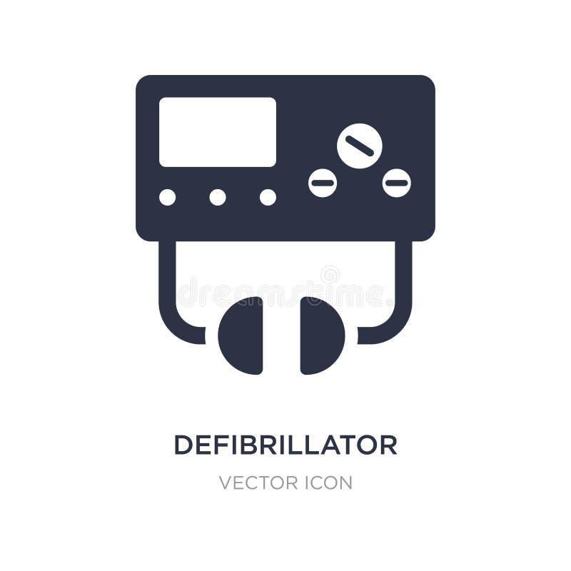 icona del defibrillatore su fondo bianco Illustrazione semplice dell'elemento dal concetto igienico sanitario illustrazione di stock