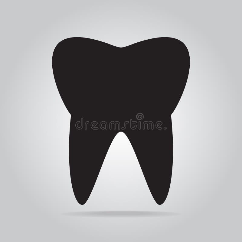 Icona del dente, icona del dentista illustrazione vettoriale