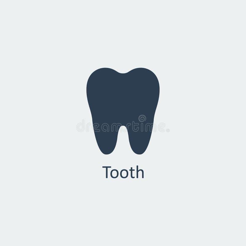 Icona del dente Illustrazione di vettore royalty illustrazione gratis