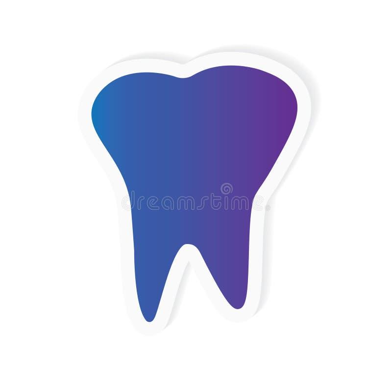 Icona del dente illustrazione di stock