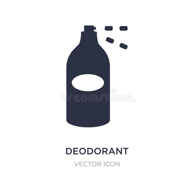 icona del deodorante su fondo bianco Illustrazione semplice dell'elemento dal concetto di bellezza illustrazione di stock