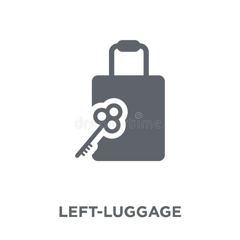 Icona del deposito bagagli dalla raccolta dell'hotel illustrazione di stock
