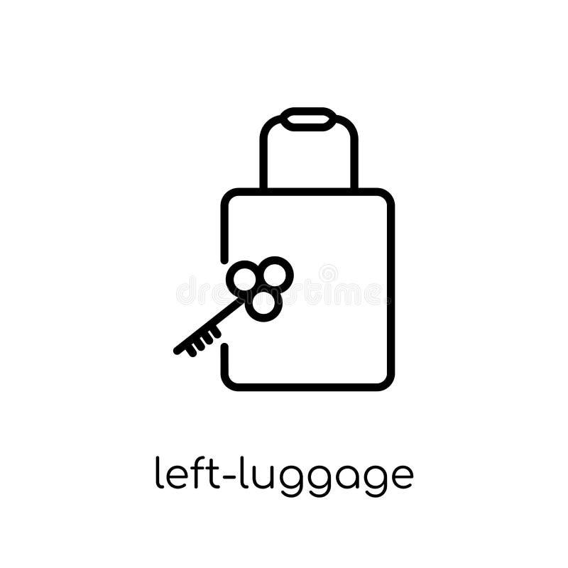 Icona del deposito bagagli dalla raccolta dell'hotel illustrazione vettoriale