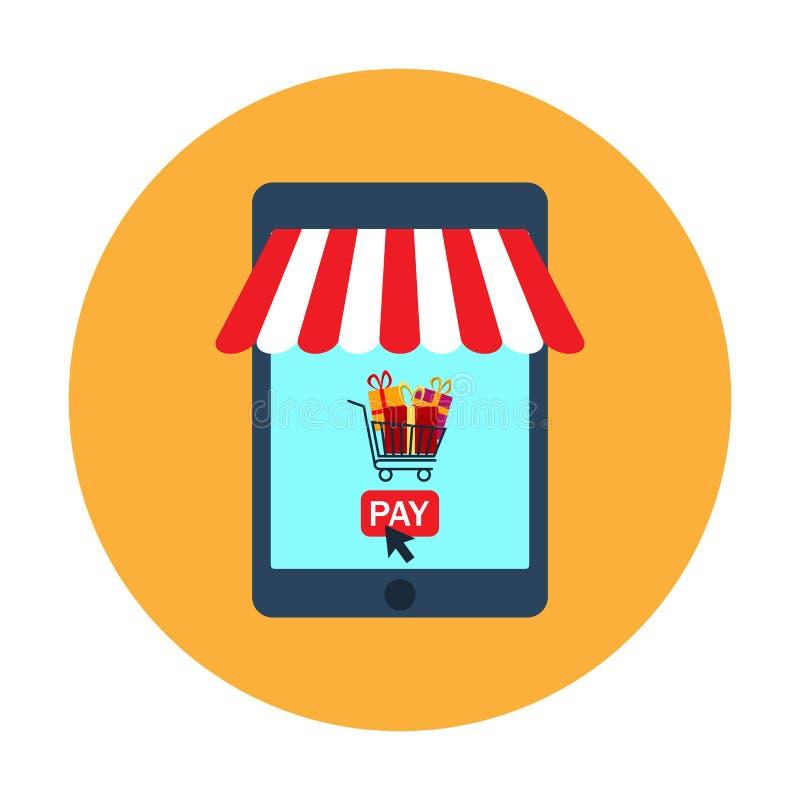 Icona del deposito di web e di commercio elettronico royalty illustrazione gratis