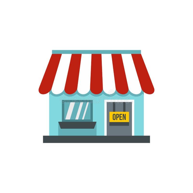 Icona del deposito del negozio, stile piano royalty illustrazione gratis