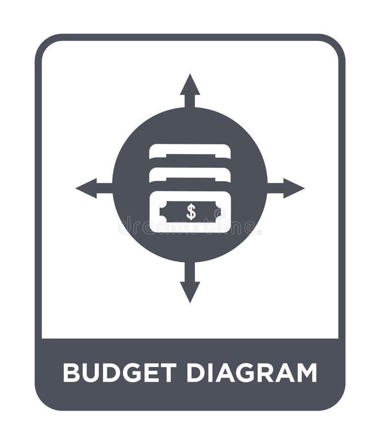 icona del diagramma del bilancio nello stile d'avanguardia di progettazione icona del diagramma del bilancio isolata su fondo bia illustrazione vettoriale