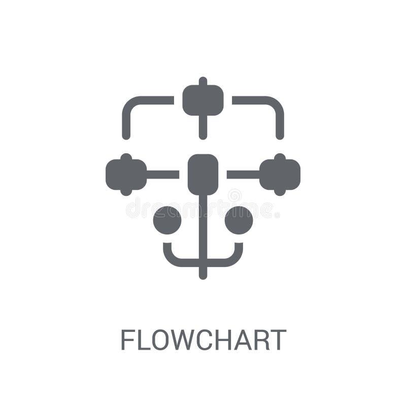 Icona del diagramma di flusso  royalty illustrazione gratis