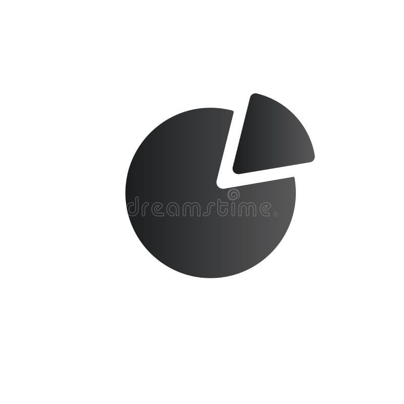 Icona del diagramma a torta nello stile piano d'avanguardia Simbolo per la vostra progettazione del sito Web, logo, app, rapporti royalty illustrazione gratis