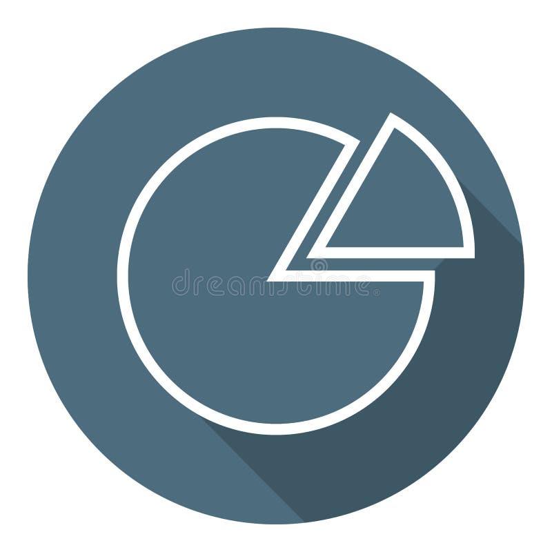 Icona del diagramma a torta Stile piano d'avanguardia Illustrazione per la vostra progettazione, web, App di vettore royalty illustrazione gratis