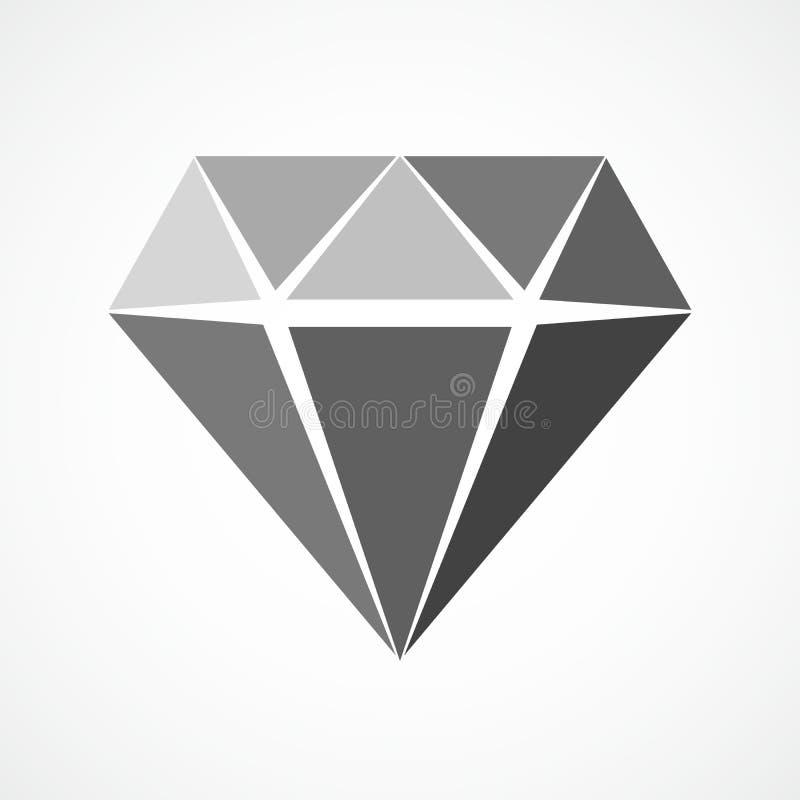 Icona del diamante Illustrazione di vettore illustrazione vettoriale