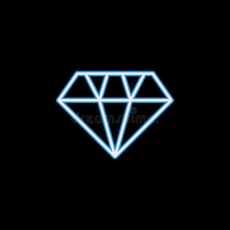 icona del diamante nello stile al neon Uno dell'icona della raccolta di nozze può essere usato per UI, UX royalty illustrazione gratis