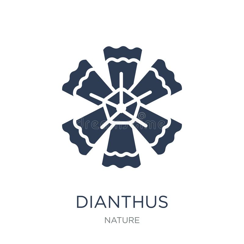 Icona del Dianthus Icona piana d'avanguardia del Dianthus di vettore sul backgro bianco illustrazione di stock
