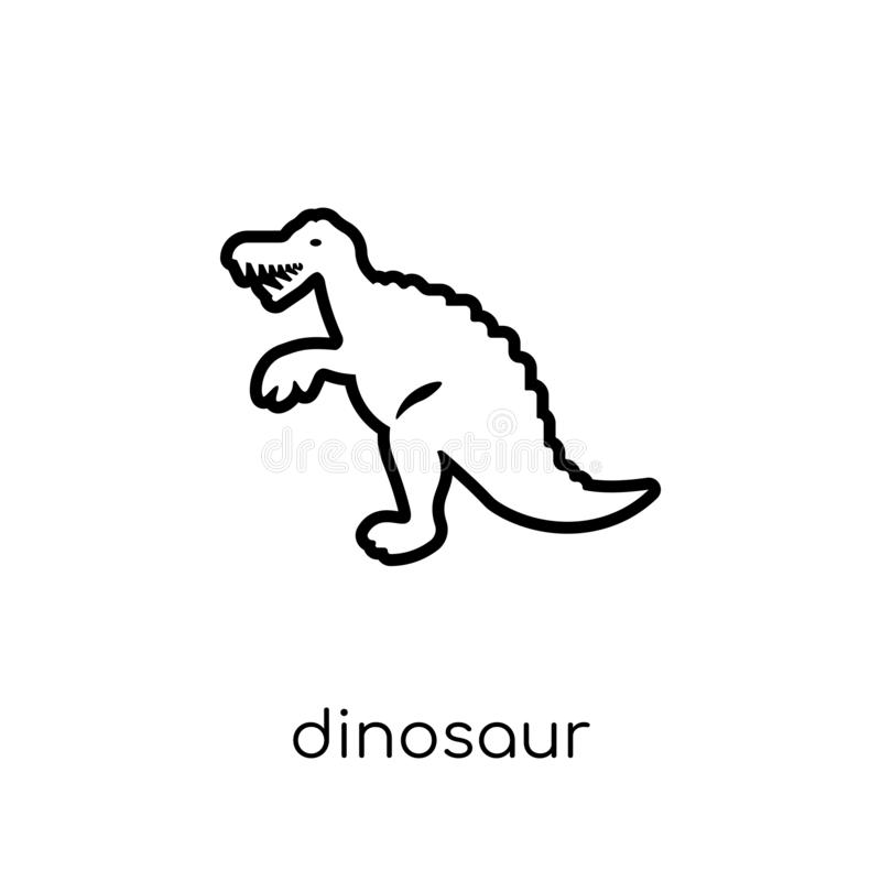 Icona del dinosauro dalla raccolta illustrazione vettoriale