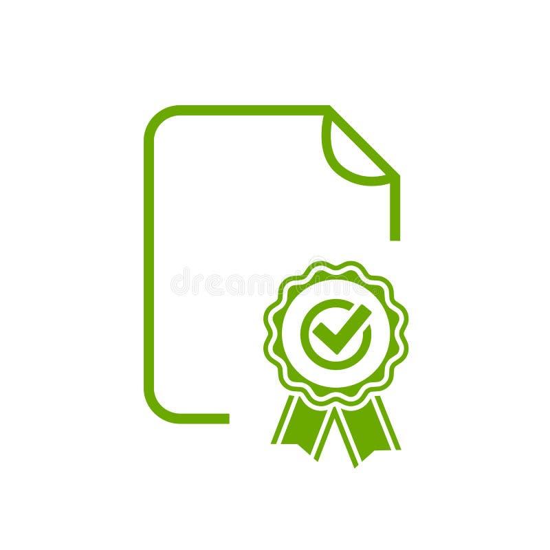 Icona del diploma del certificato illustrazione di stock
