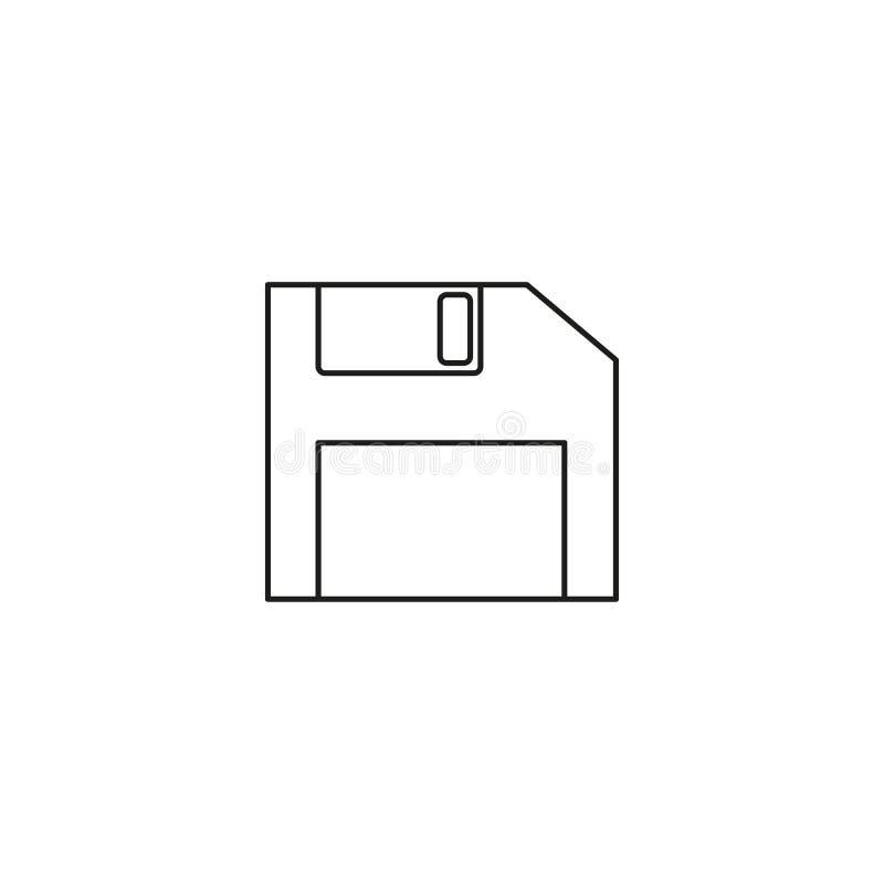 icona del dischetto, illustrazione di vettore Stile piano di progettazione vector l'illustrazione dell'icona del dischetto isolat illustrazione di stock