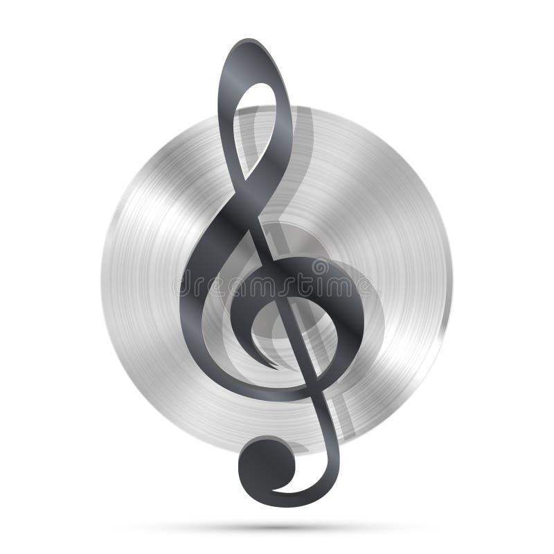 Icona del disco di LP, oggetto di musica del grammofono illustrazione vettoriale