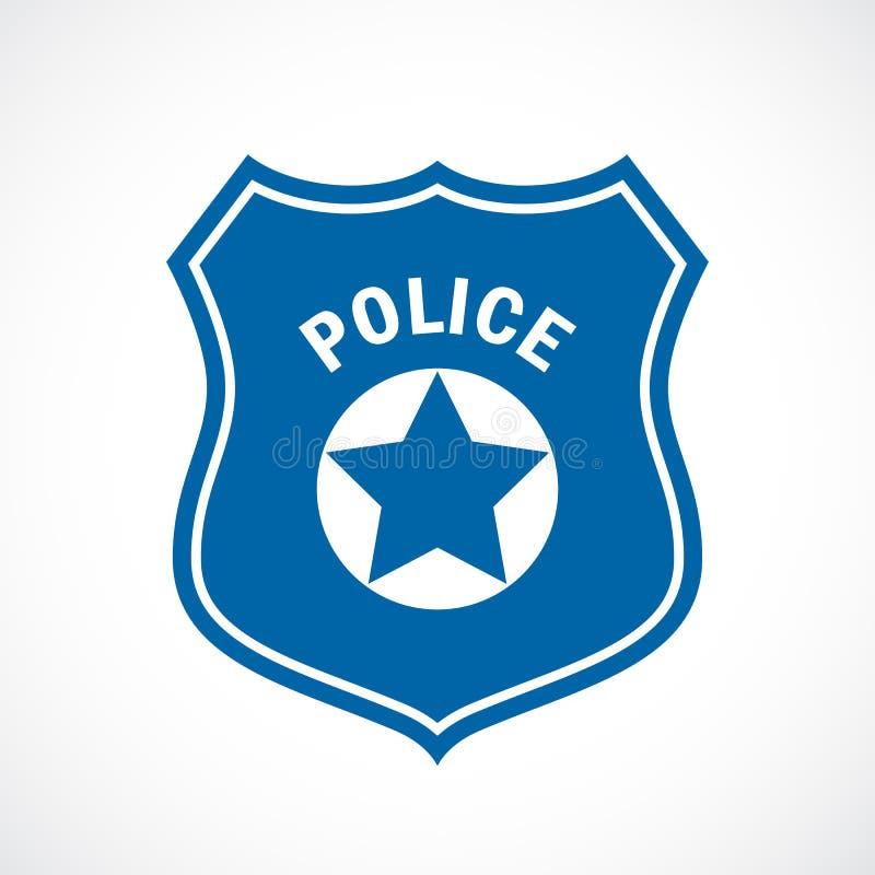Icona del distintivo dell'ufficiale di polizia illustrazione vettoriale