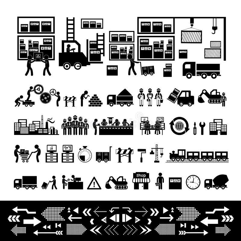 Icona del distributore commerciale e del produttore royalty illustrazione gratis