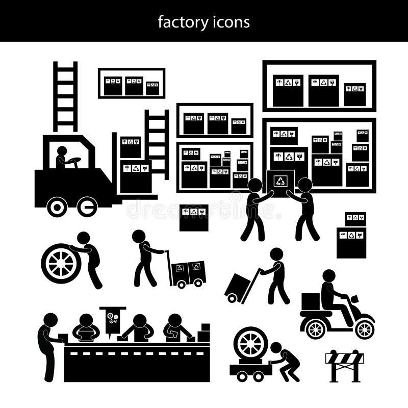 Icona del distributore commerciale e del produttore per il sistema economico royalty illustrazione gratis